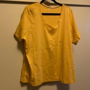 NWT AVENUE MUSTARD-COLORED SHORT-SLEEVE TOP